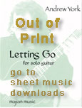 Andrew York Sheet Music Letting Go