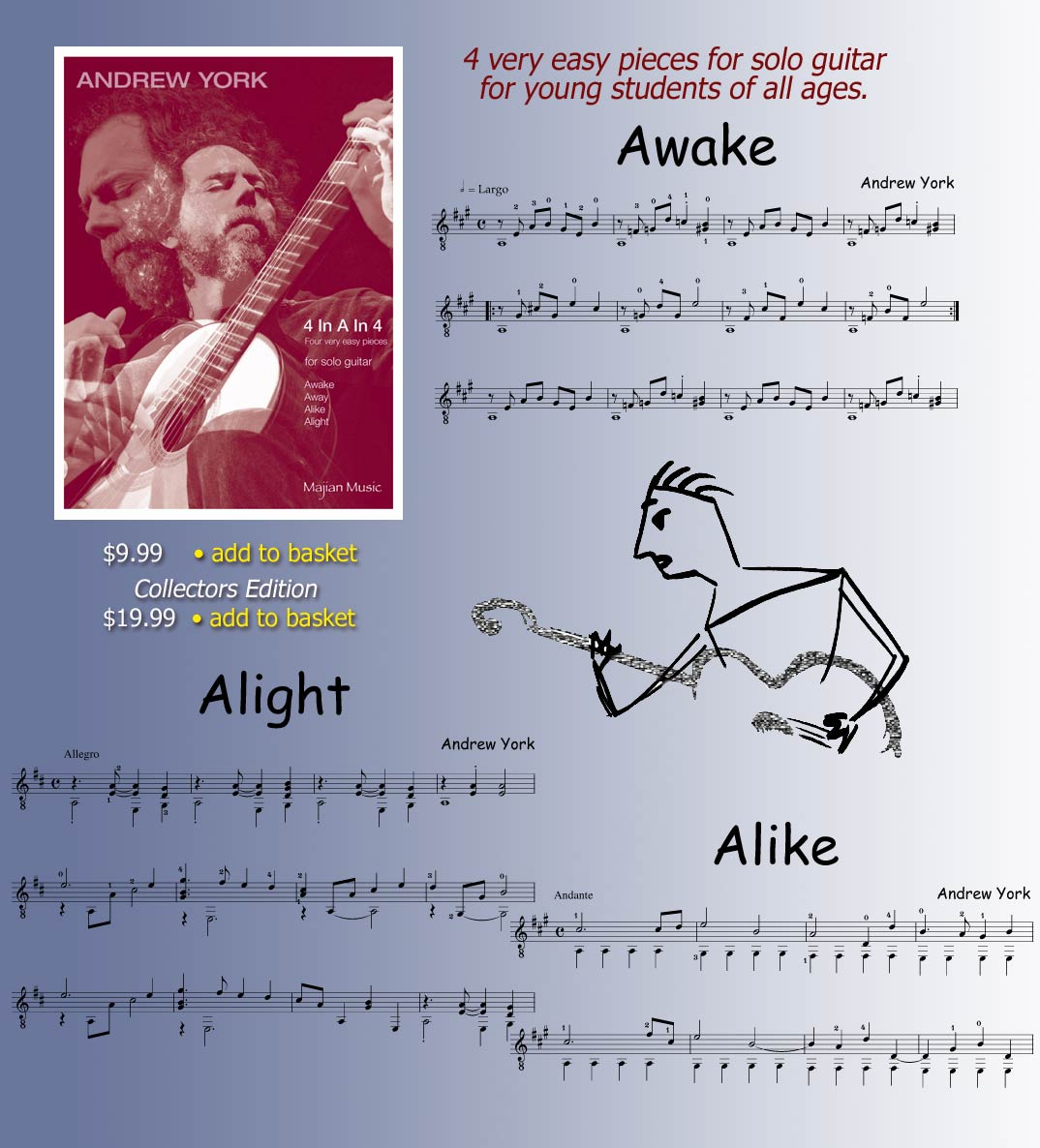 Sheet Music for Andrew York's KINDERLIGHT