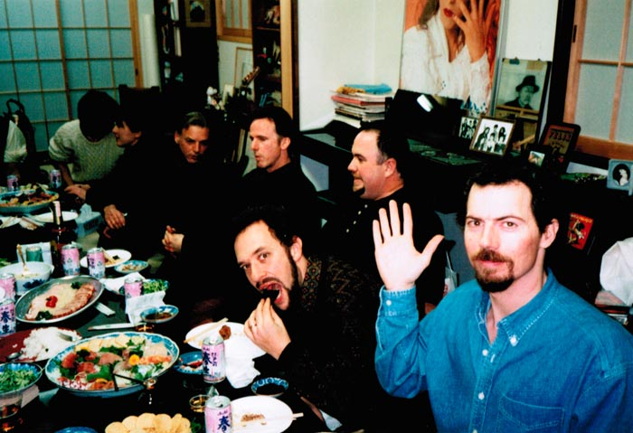 LAGQ-John Dearman, Bill Kanengiser, Scott Tennant and Andrew York, dinner in Japan