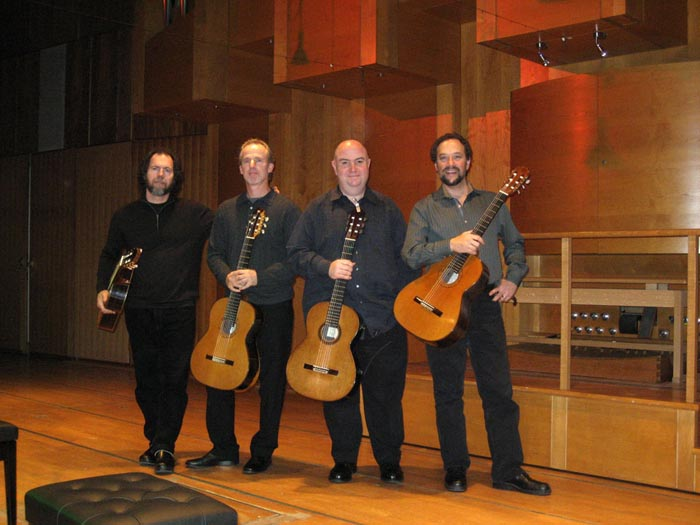 LAGQ-John Dearman, Bill Kanengiser, Scott Tennant and Andrew York, last Munich concert