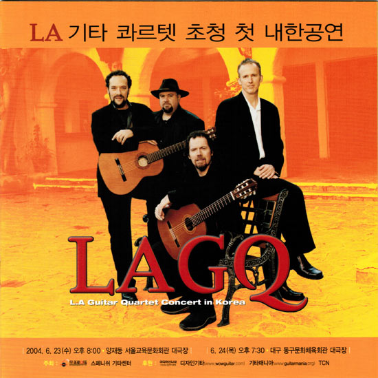 LAGQ-John Dearman, Bill Kanengiser, Scott Tennant and Andrew York, Korea