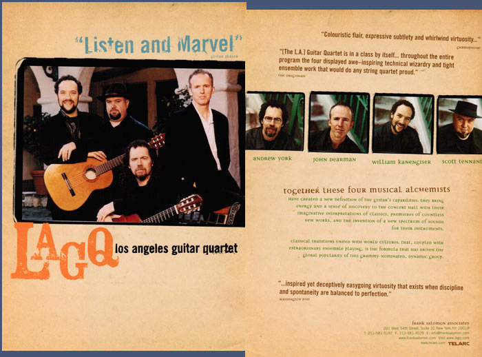 LAGQ-John Dearman, Bill Kanengiser, Scott Tennant and Andrew York, flyers3
