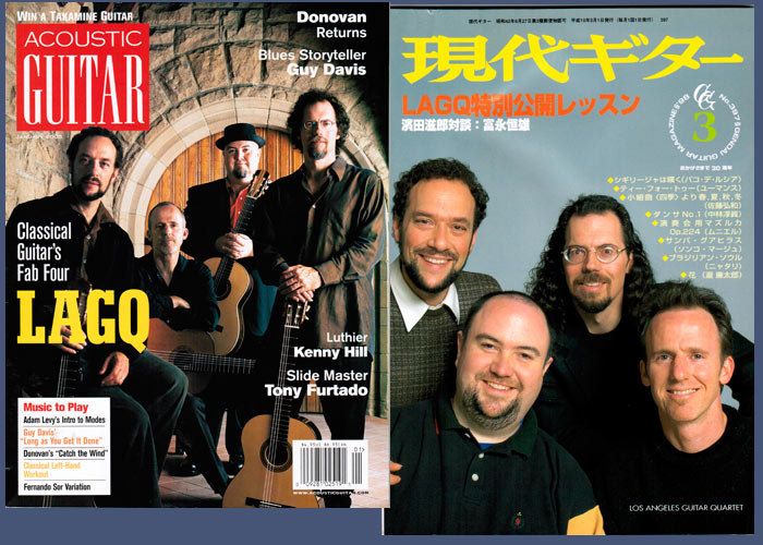 LAGQ-John Dearman, Bill Kanengiser, Scott Tennant and Andrew York, Acoustic Guitar magazine