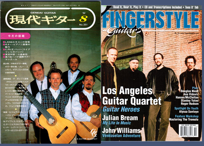 LAGQ-John Dearman, Bill Kanengiser, Scott Tennant and Andrew York, Fingerstyle Guitar magazine