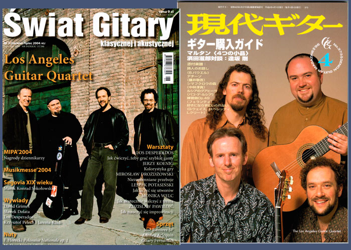 LAGQ-John Dearman, Bill Kanengiser, Scott Tennant and Andrew York, Gendai Guitar magazine